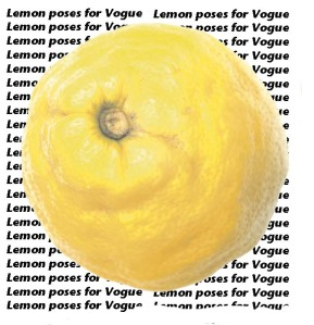 Lemon Poses for Vogue