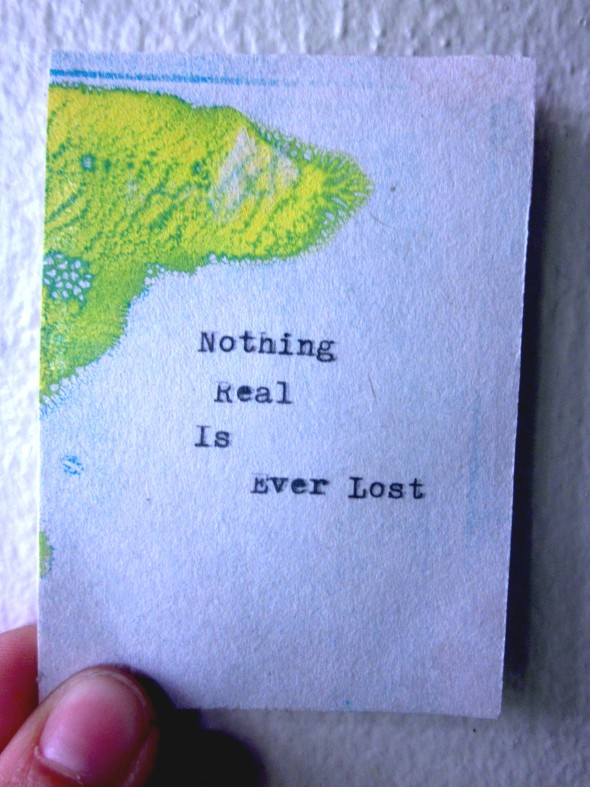 Nothing Real can Ever be Lost